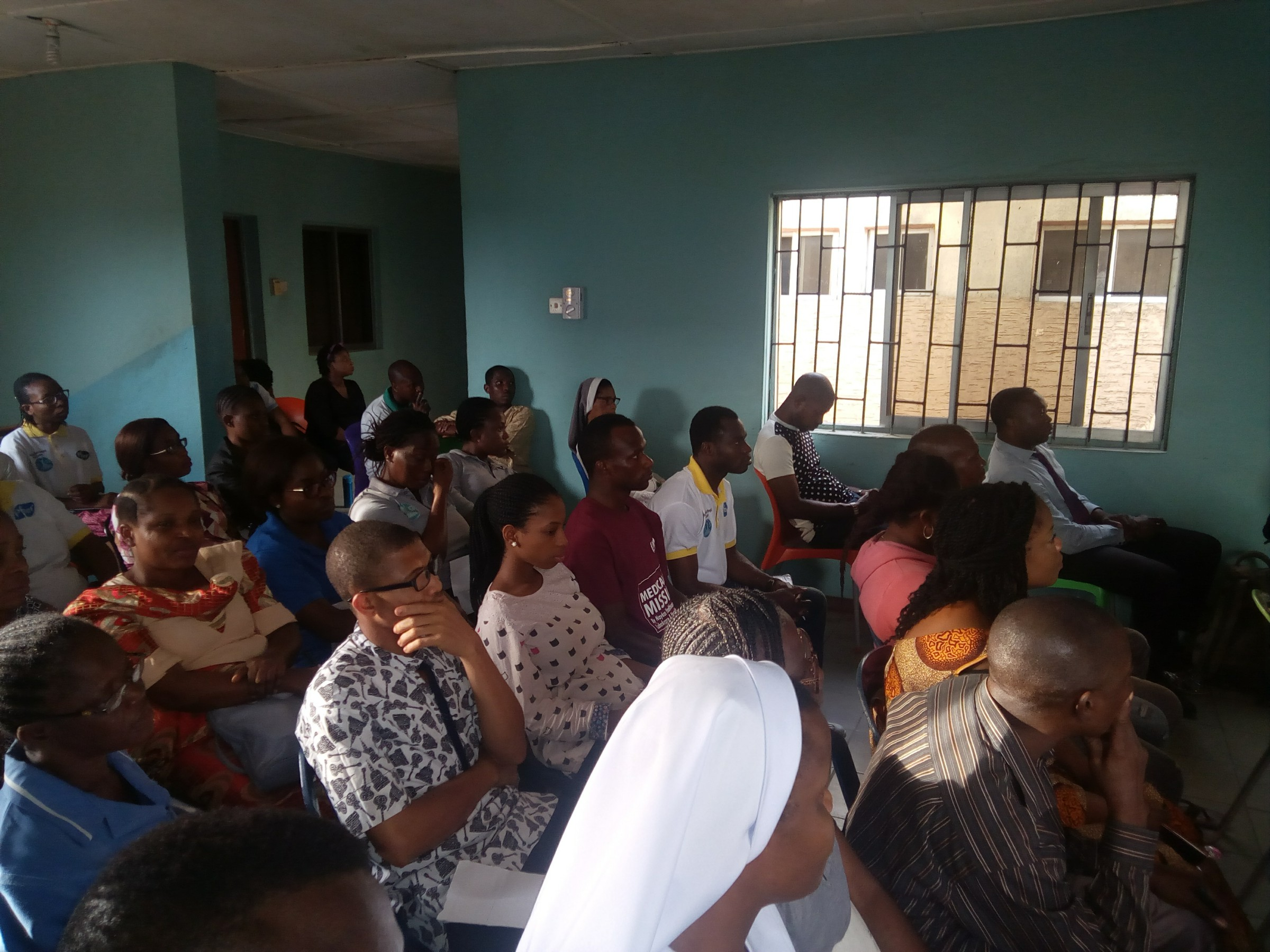 Cross section of Staffs receiving Lecture